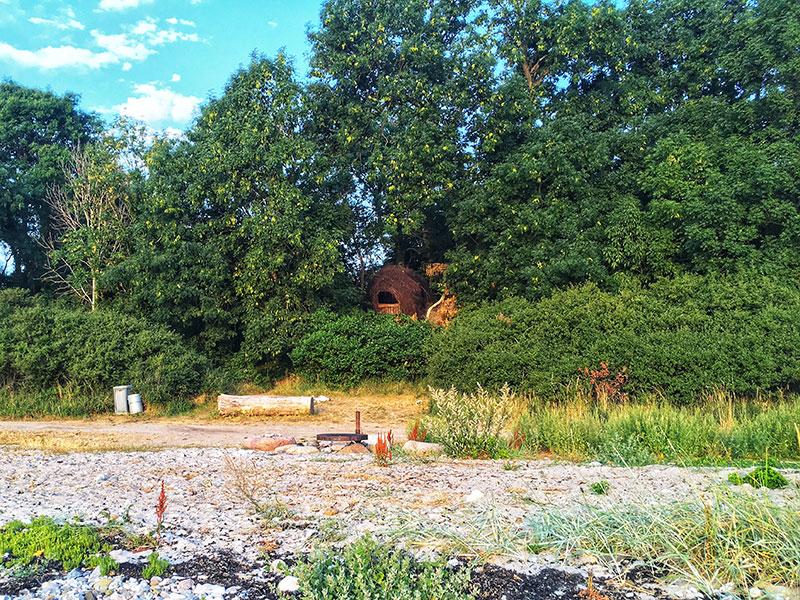 Hjemmestrikket shelter på en af mine ruter – det skal prøves en dag