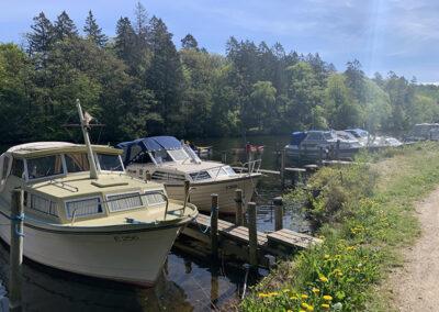 Der var rig mulighed for fortøjring af sin båd på det første lange stykke